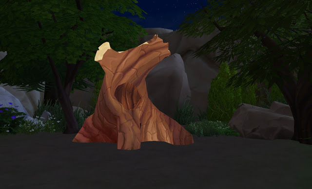 Sims 4 Hollow Tree as a Food Storage by Anni K at Historical Sims Life