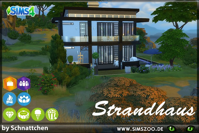 Sims 4 Beach house by Schnattchen at Blacky's Sims Zoo