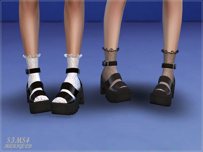 4 At Marigold » Sandals Sims Chunky Updates MVUzpS