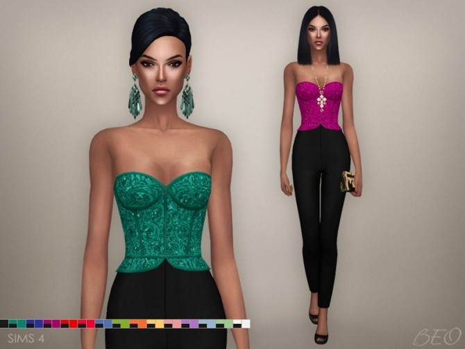 Sims 4 Cristina collection Jumpsuit at BEO Creations