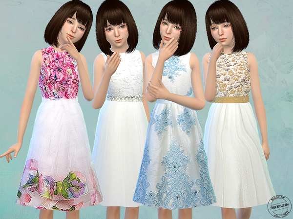 Floral Tulle Dresses by Fritzie.Lein at TSR image 1629 Sims 4 Updates
