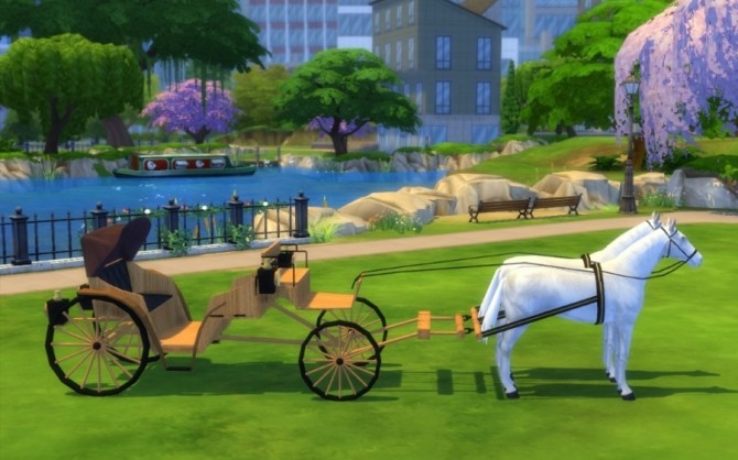 Sims 4 Wedding carriage by Maman Gateau at Sims Artists