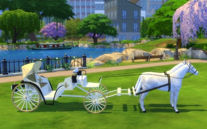 Wedding carriage by Maman Gateau at Sims Artists image 16712 670x418 Sims 4 Updates