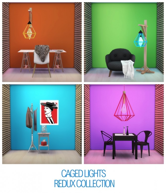 Sims 4 CAGED LIGHTS at THINGSBYDEAN