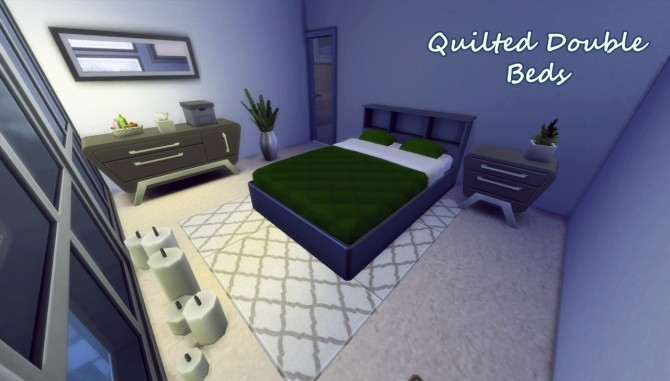 Quilted double beds at Hamburger Cakes image 168 670x381 Sims 4 Updates