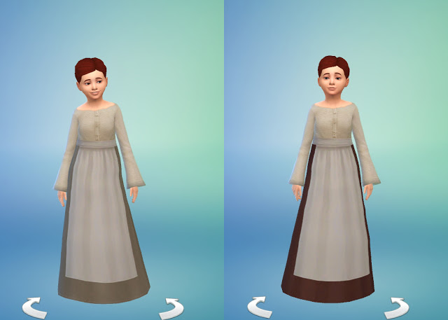 Medieval Peasants Dress for Girls by Anni K at Historical Sims Life image 16913 Sims 4 Updates