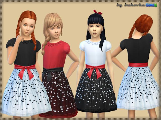 Sims 4 Dress Speckled at Bukovka