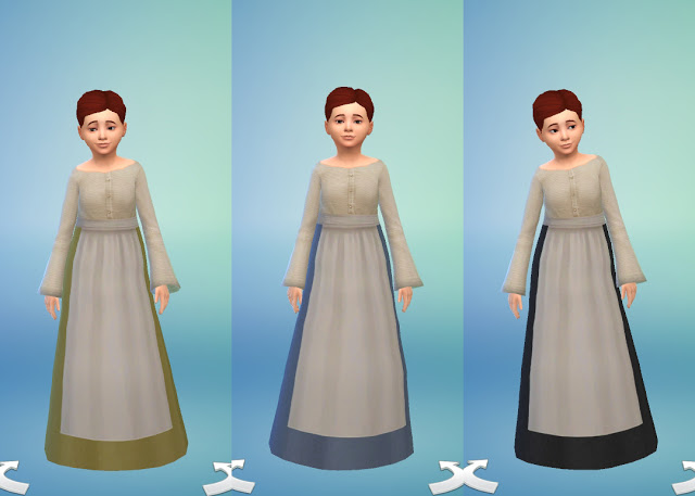 Medieval Peasants Dress for Girls by Anni K at Historical Sims Life image 17013 Sims 4 Updates