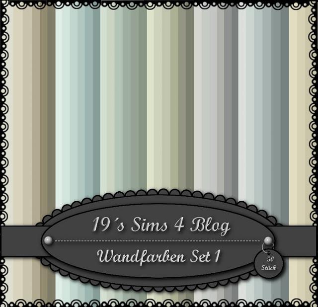 Sims 4 Wall colors Set 1 at 19 Sims 4 Blog