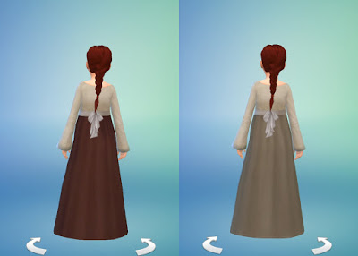 Medieval Peasants Dress for Girls by Anni K at Historical Sims Life image 17118 Sims 4 Updates