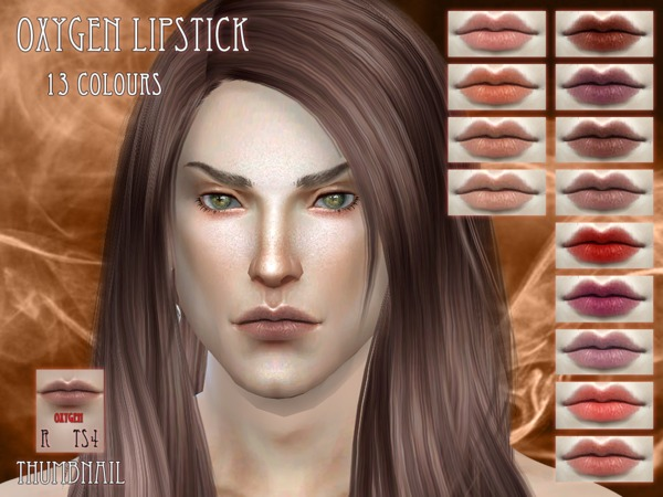 Sims 4 Oxygen Lipstick by RemusSirion at TSR
