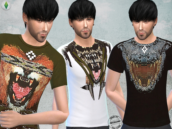 T Shirts with Graphic Print by Fritzie.Lein at TSR image 18 Sims 4 Updates
