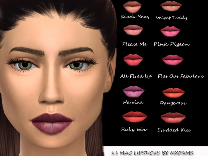 11 MAC LIPSTICKS at MXFSims image 1801 670x503 Sims 4 Updates