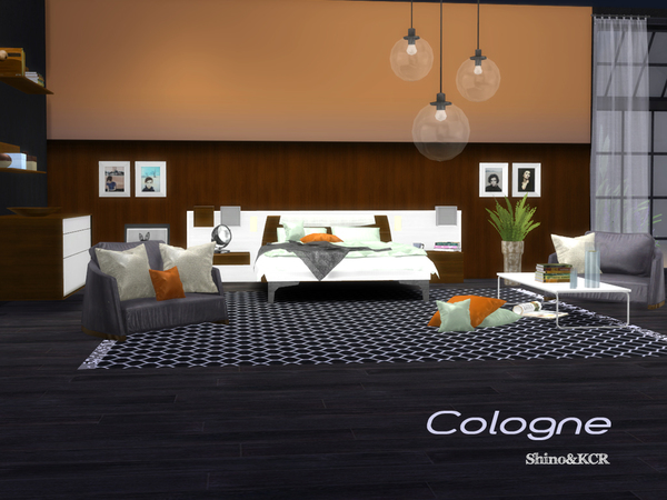 Sims 4 Cologne bedroom by ShinoKCR at TSR
