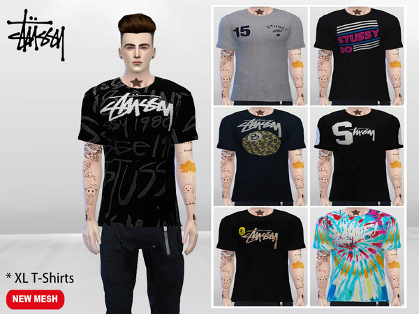 XL Urban T-Shirts by McLayneSims at TSR u00bb Sims 4 Updates