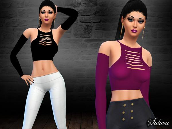 Sims 4 Kylie Top by Saliwa at TSR