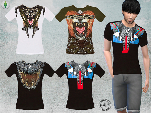 T Shirts with Graphic Print by Fritzie.Lein at TSR image 19 Sims 4 Updates