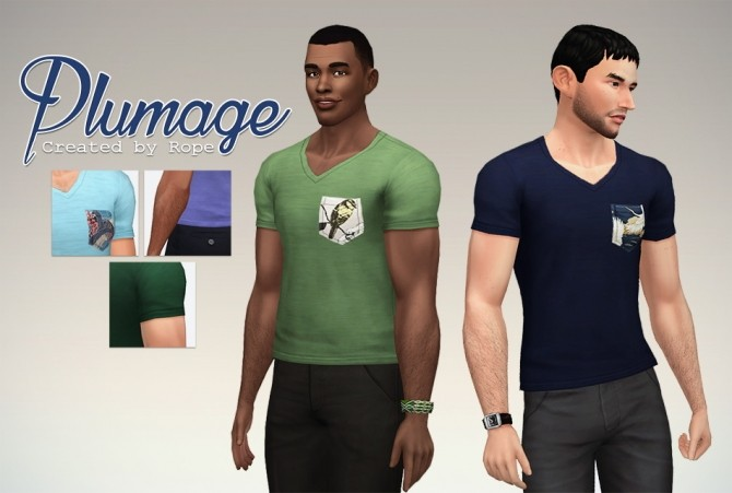 Plumage T shirt at Simsontherope image 19116 670x451 Sims 4 Updates