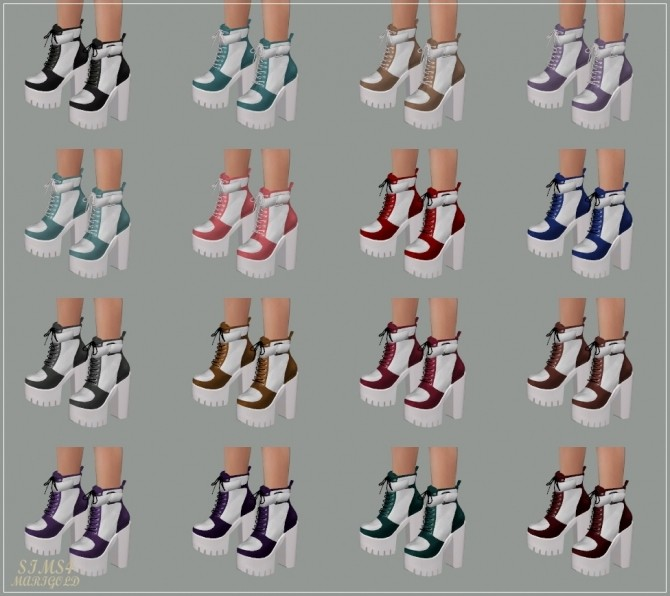 Chunky Sneakers Heels at Marigold image 1958 670x596 Sims 4 Updates