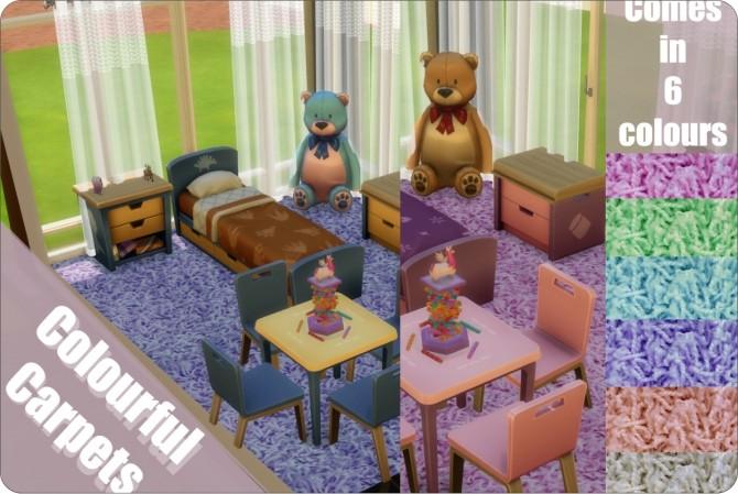 Sims 4 Colourful Carpets at xMisakix Sims