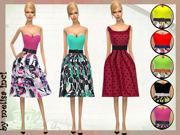 Strapless Casual Dress by melisa inci at TSR image 2010 Sims 4 Updates