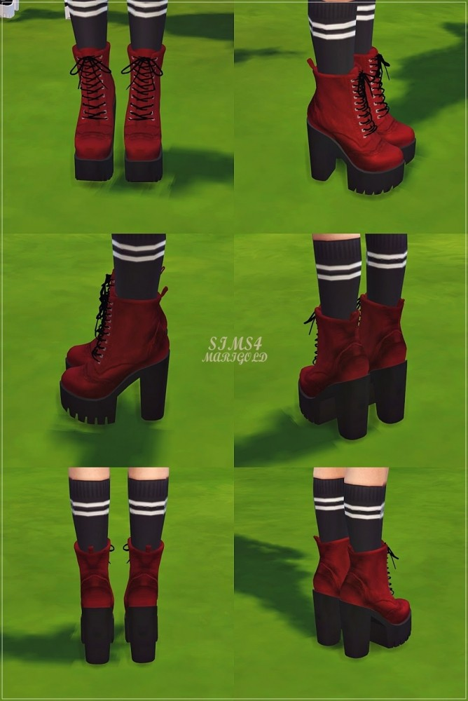 Chunky Combat Boots At Marigold 187 Sims 4 Updates