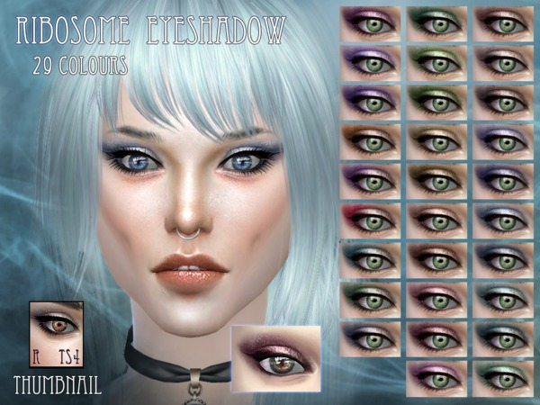 Sims 4 Ribosome eyeshadow by RemusSirion at TSR
