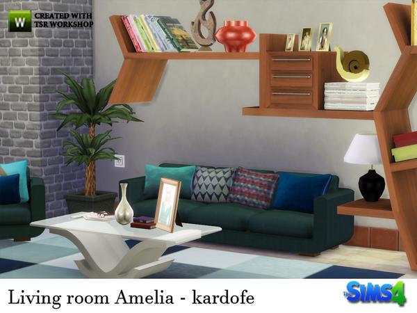 Sims 4 Living room Amelia by kardofe at TSR