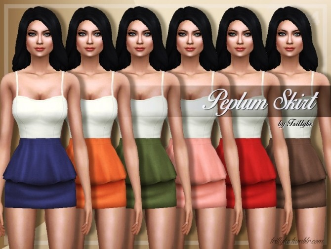 Sims 4 Peplum Skirt at Trillyke