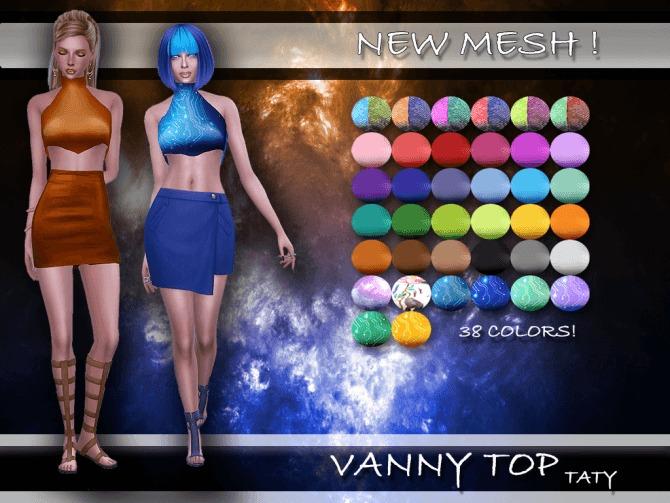 Sims 4 Taty Vanny Top by Taty86 at SimsWorkshop