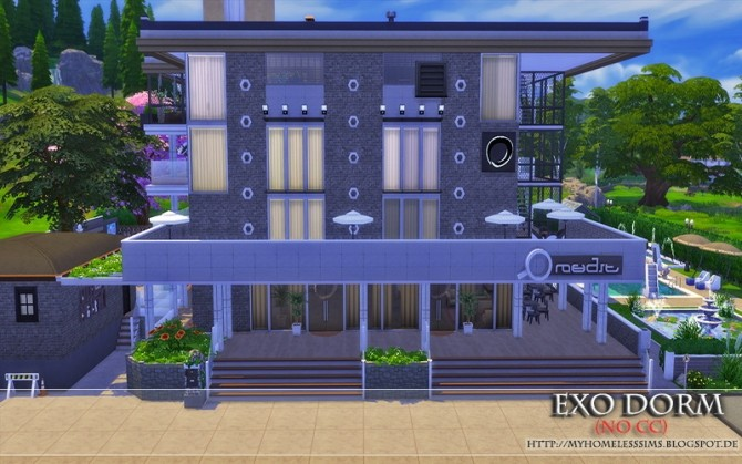 Exo Dorm house (No CC) at Homeless Sims image 2064 670x419 Sims 4 Updates