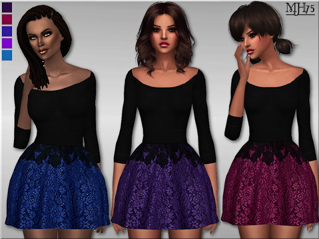 Sims 4 Serenade Dress by Margeh75 at Sims Addictions