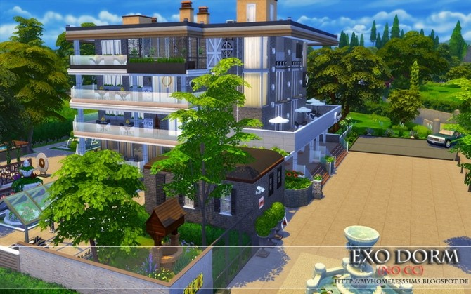Exo Dorm house (No CC) at Homeless Sims image 2074 670x419 Sims 4 Updates