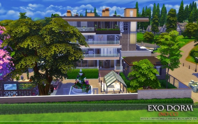 Exo Dorm house (No CC) at Homeless Sims image 2083 670x419 Sims 4 Updates