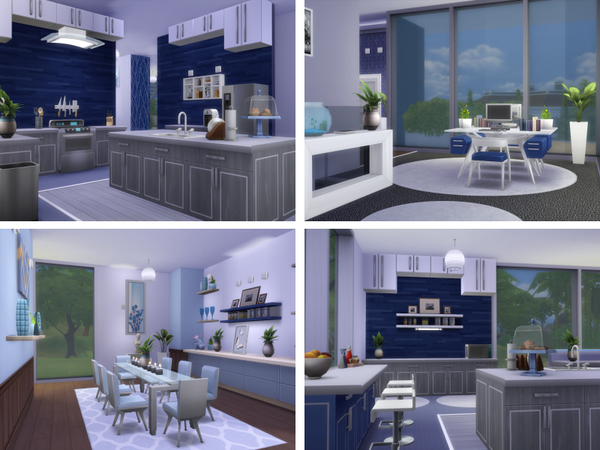 Sims 4 Blue Lagoon house by lenabubbles82 at TSR