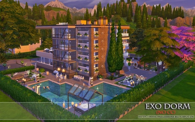 Exo Dorm house (No CC) at Homeless Sims image 2107 670x419 Sims 4 Updates