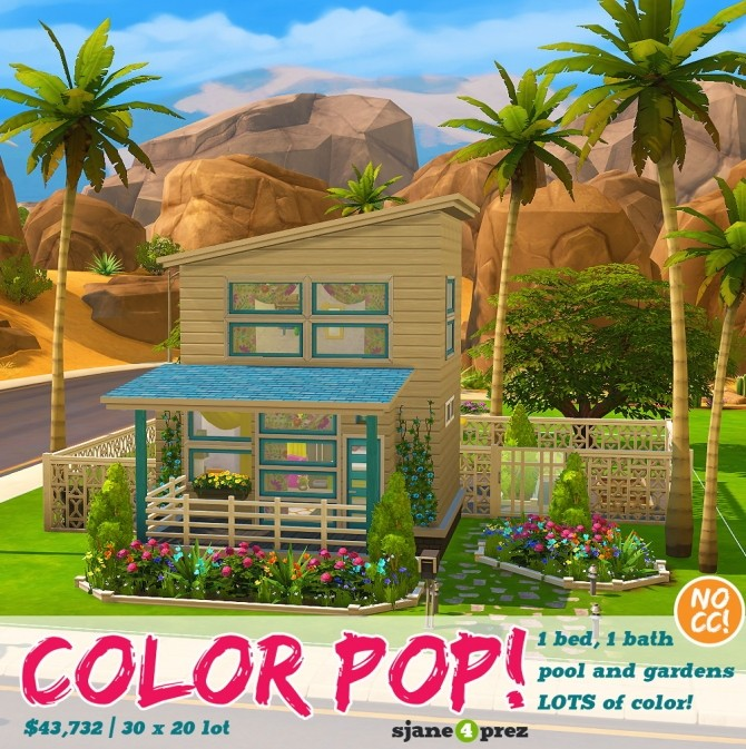 Color POP house at 4 Prez Sims4 image 211 670x673 Sims 4 Updates