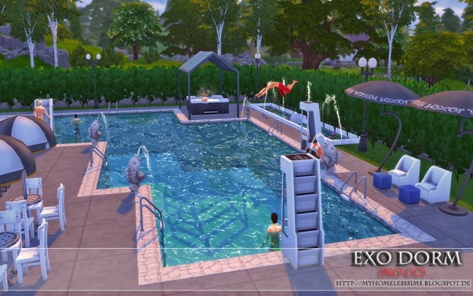 Exo Dorm house (No CC) at Homeless Sims image 2118 670x419 Sims 4 Updates