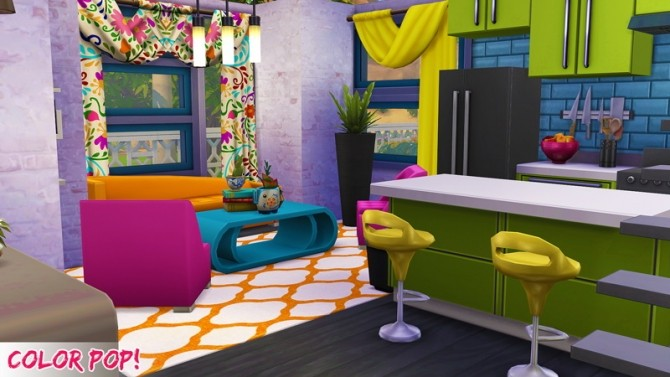 Color POP house at 4 Prez Sims4 image 212 670x377 Sims 4 Updates