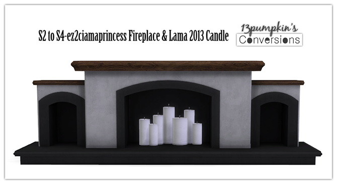 Sims 4 Fireplace and candle conversions at 13pumpkin31