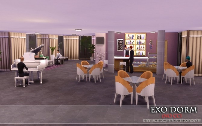 Exo Dorm house (No CC) at Homeless Sims image 2124 670x419 Sims 4 Updates