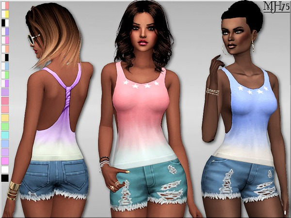 Sims 4 Summery Outfit by Margeh 75 at TSR