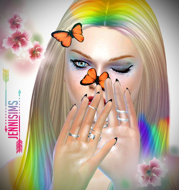 Butterfly for Nose and Hair at Jenni Sims image 21310 Sims 4 Updates