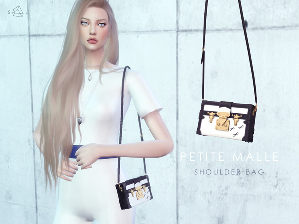 Sims 4 Petite Malle Bag by starlord at TSR