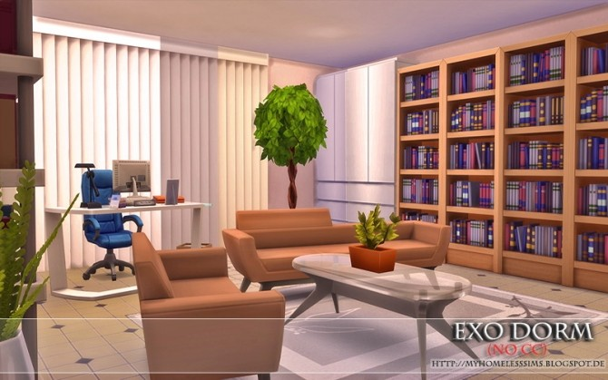 Exo Dorm house (No CC) at Homeless Sims image 2153 670x419 Sims 4 Updates