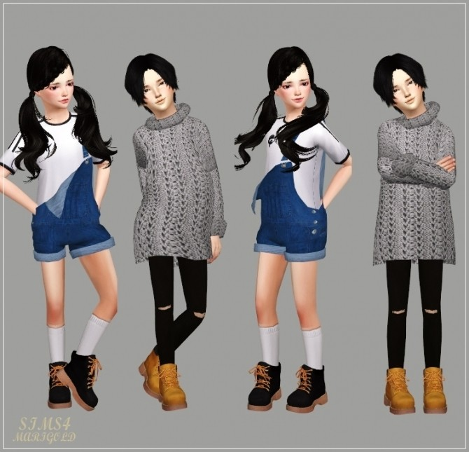 Child Hiking Boots At Marigold 187 Sims 4 Updates