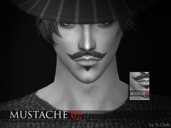 Mustache 02 by S Club WM at TSR image 2160 Sims 4 Updates