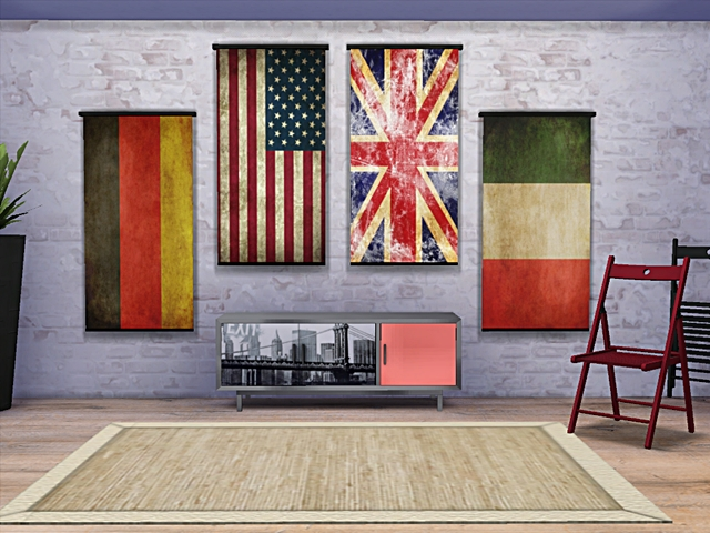 Wall Flags by Angel74 at Beauty Sims image 2178 Sims 4 Updates