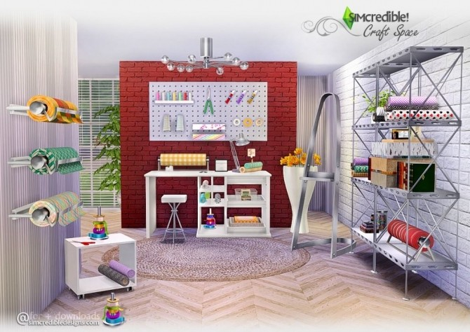 Craft Space Set At Simcredible Designs 4 187 Sims 4 Updates