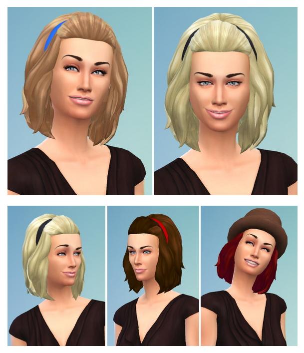 Sims 4 Halfup Medium Hair Female & Male at Birksches Sims Blog